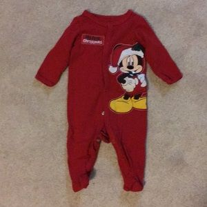 6month Mickey Mouse my first Christmas one piece.